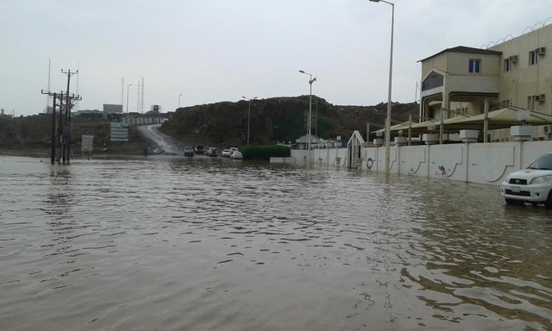غرق شوارع جازان 1