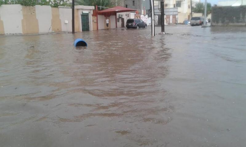 غرق شوارع جازان 12