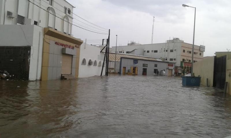 غرق شوارع جازان 13