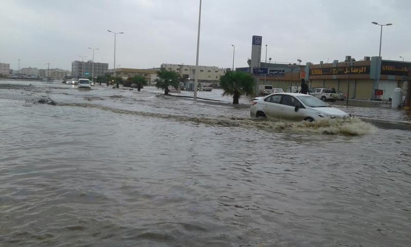 غرق شوارع جازان 15