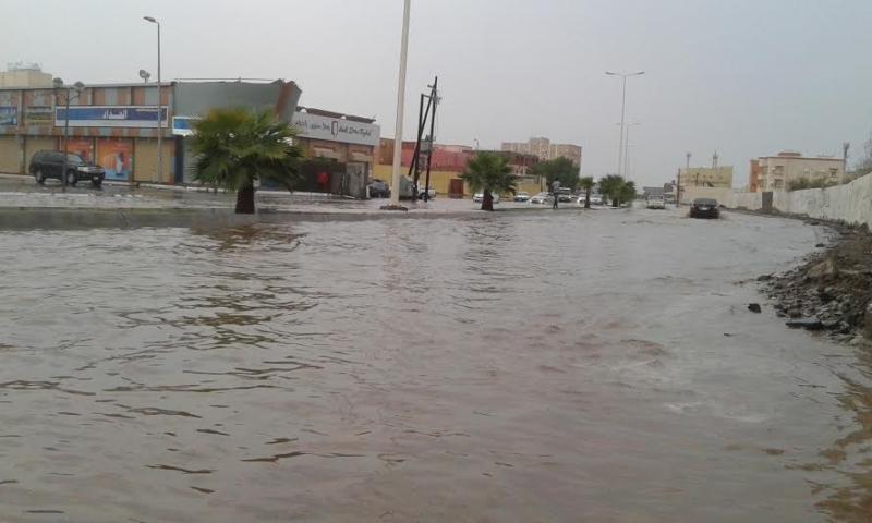 غرق شوارع جازان 16