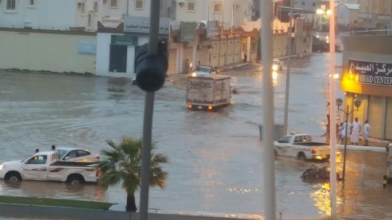 غرق شوارع جازان 19