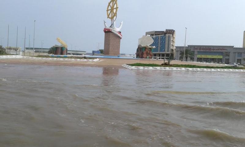 غرق شوارع جازان 3