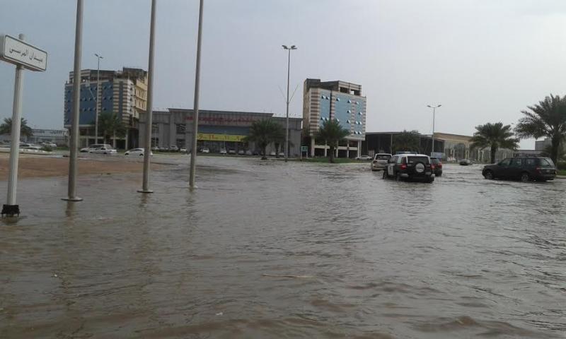 غرق شوارع جازان 5