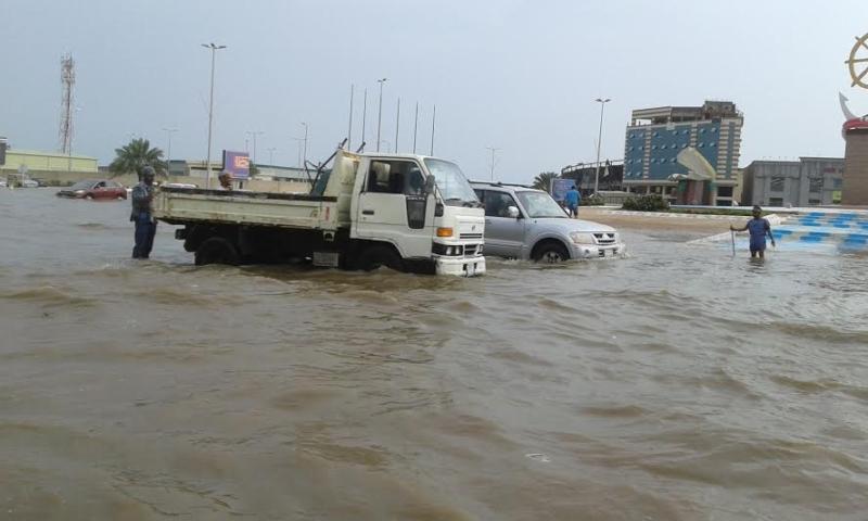 غرق شوارع جازان 6