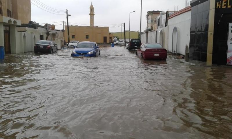 غرق شوارع جازان 8