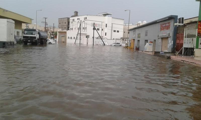 غرق شوارع جازان 9