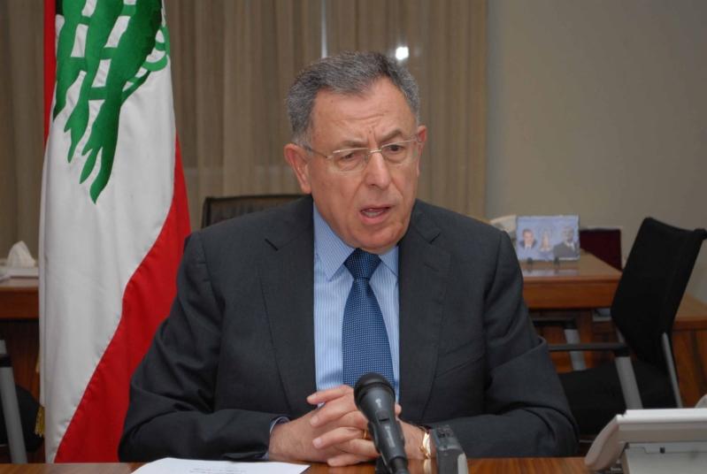 السنيورة يطالب بالعودة لاتفاق الطائف والدستور اللبناني
