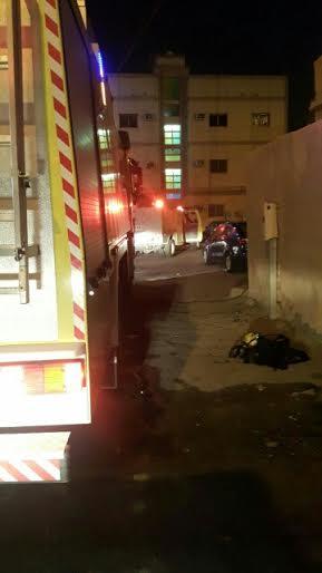 فاة مسنة مقعدة وأصابة 7 أشخاص بحريق شب بمنزلهم بالجبيل3