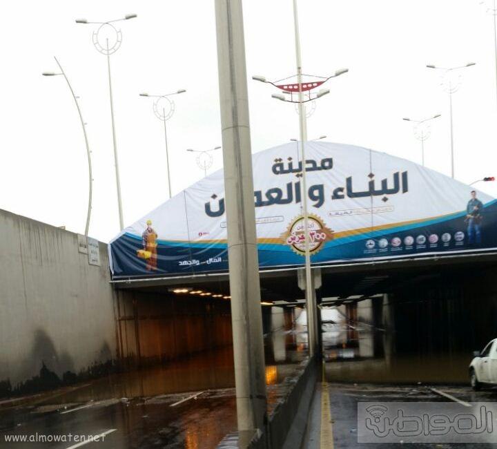 فتح نفق الغروي بعد اغلاقه بسبب الامطار بـ خميس مشيط (5)