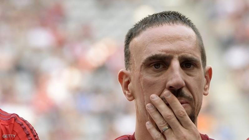 Bayern Munich's French midfielder Franck Ribery attends the team presentation of the German first division Bundesliga team FC Bayern Munich at the stadium in Munich, southern Germany, on July 11, 2015. AFP PHOTO / CHRISTOF STACHE        (Photo credit should read CHRISTOF STACHE/AFP/Getty Images)