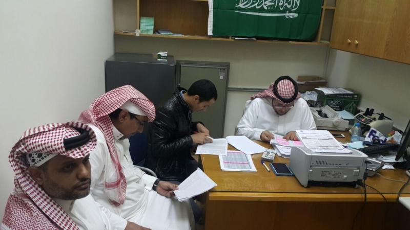 فرق التفتيش بفرع الوزارة في منطقة الباحة أثناء زيارتها للمنشأة الصحية ال...