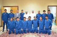 فريق القدم بكلية الآداب يمثل جامعة الملك فيصل في بطولة المملكة للجامعات