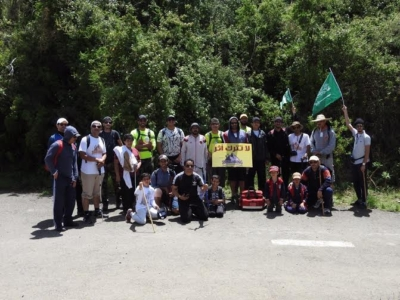فريق هايكنج السعودية في رحلة السير الطويلة15