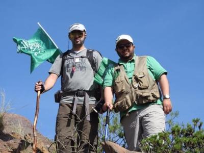 فريق هايكنج السعودية في رحلة السير الطويلة7
