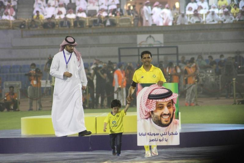 آل الشيخ لـ فهد الهريفي: اليوم نودع أحد أبرز نجوم وطننا