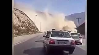 فيديو تحطم مروحية إيرانية أثناء محاولة الهبوط