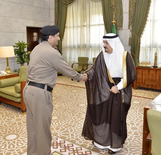 فيصل بن بندر يستقبل مدير سجون الرياض الجديد1