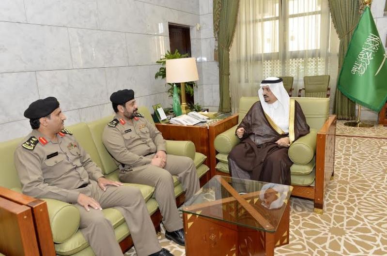 فيصل بن بندر يستقبل مدير سجون الرياض الجديد2
