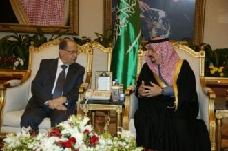 فيصل بن بندر يستقبل ميشال عون في مطار الملك خالد - المواطن