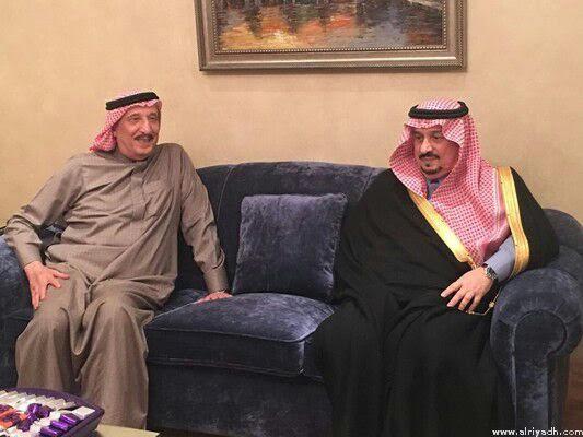 بالصور.. فيصل بن بندر يعزي في وفاة الأميرة البندري بنت ناصر - المواطن