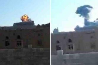 شاهد.. قذائف التحالف تدك قصور وحصون صالح في صنعاء - المواطن