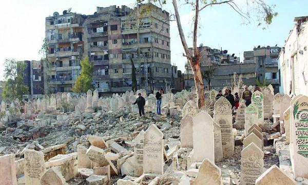 قصف بالبراميل المتفجرة على حلب