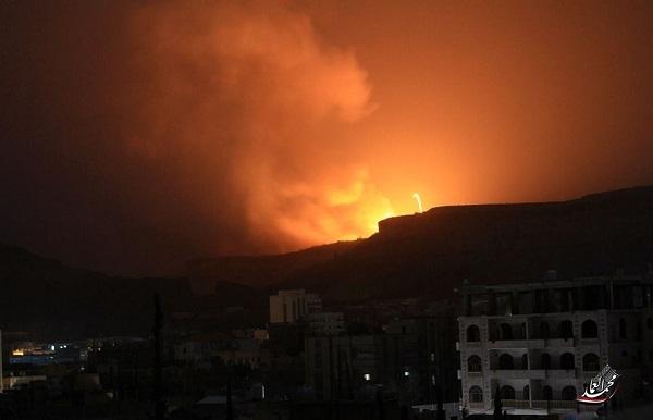 قصف-مخازن-اسلحة-للحوثي
