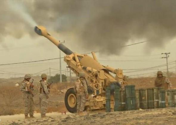 قصف-مدفعي-على-الحوثيين