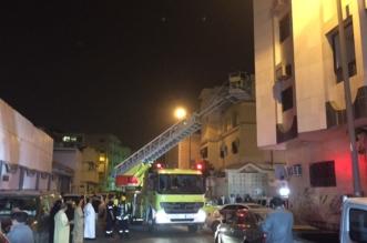 """صور.. """"دفاية كهربائية"""" تتسبب في حريق بعمارة سكنية بالطائف - المواطن"""