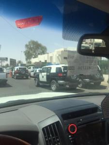 قوات الأمن تطوق مستشفى بحائل1