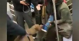 شاهد.. كلب يطبق على ساق فتاة رافضًا تركها بالمترو - المواطن