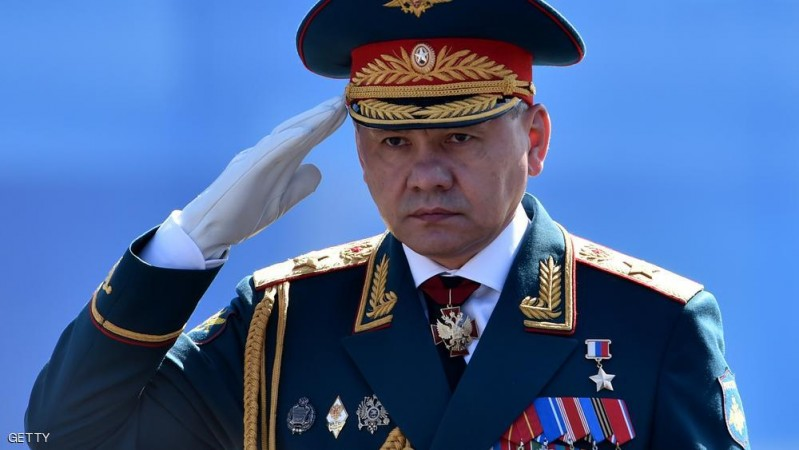 Russian Defence Minister Sergei Shoigu salutes as he takes part in a rehearsal for the Victory Day military parade on Moscow's Red Square on May 7, 2015. Russia will celebrate the 70th anniversary of the 1945 victory over Nazi Germany on May 9. AFP PHOTO / KIRILL KUDRYAVTSEV        (Photo credit should read KIRILL KUDRYAVTSEV/AFP/Getty Images)