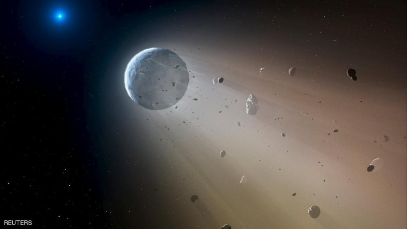 A Ceres-like asteroid is pictured slowly disintegrating as it orbits a white dwarf star in this undated handout artist's rendering in this undated handout photo obtained by Reuters October 22, 2015. Astronomers have spotted telltales signs of such an object using data from the Kepler K2 mission. It is the first planetary object detected transiting a white dwarf. Within about a million years the object will be destroyed, leaving a thin dusting of metals on the surface of the white dwarf.  REUTERS/Mark A. Garlick/Harvard-Smithsonian Center for Astrophysics/Handout via Reuters    ATTENTION EDITORS - THIS PICTURE WAS PROVIDED BY A THIRD PARTY. REUTERS IS UNABLE TO INDEPENDENTLY VERIFY THE AUTHENTICITY, CONTENT, LOCATION OR DATE OF THIS IMAGE. EDITORIAL USE ONLY. NOT FOR SALE FOR MARKETING OR ADVERTISING CAMPAIGNS. NO RESALES. NO ARCHIVE. THIS PICTURE IS DISTRIBUTED EXACTLY AS RECEIVED BY REUTERS, AS A SERVICE TO CLIENTS