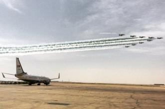 صورة تكشف مغادرة #كيري لحظة العروض الجوية لـ #رعد_الشمال - المواطن