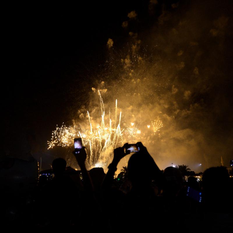 لألعاب النارية تُزين سماء العاصمة في احتفال العيد (385000429) 