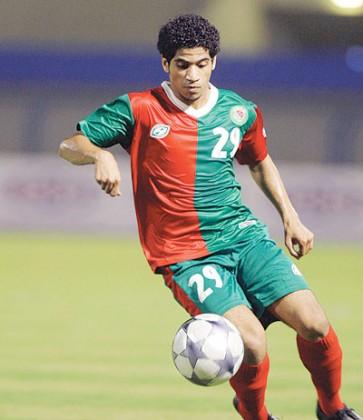 لاعب نادي الاتفاق حمد الحمد