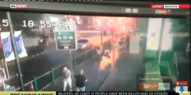 لحضات انفجار دباب في بانكوك