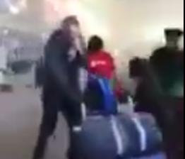لحظة هروب الركاب من مطار بروكسل