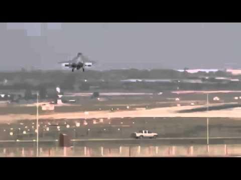 لحظة وصول الطائرات السعودية قاعدة إنجيرليك التركية