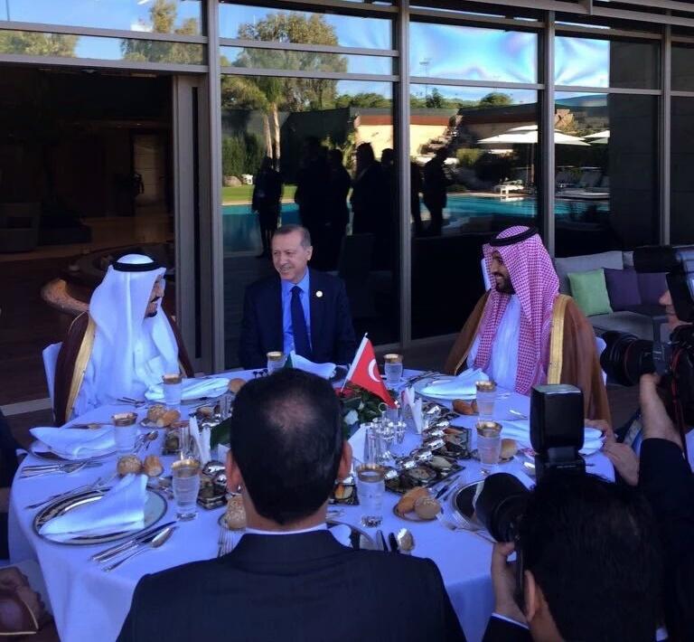 لقاء الملك_سلمان بـ أوردغان في أنطاليا (1)