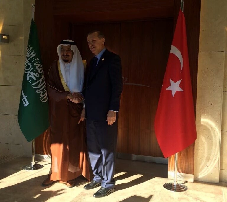 لقاء الملك_سلمان بـ أوردغان في أنطاليا (2)