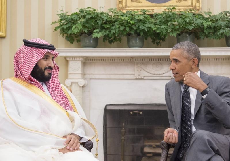 لقاء محمد بن سلمان برئيس الامريكي