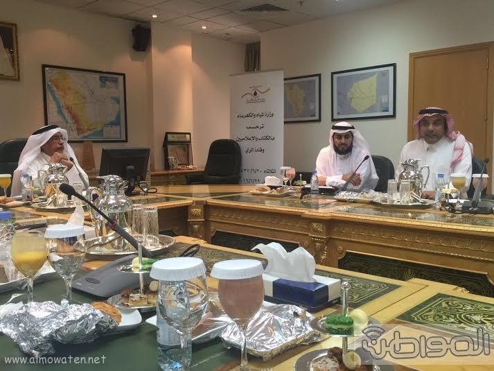 لقاء وزير المياه مع الاعلاميين14