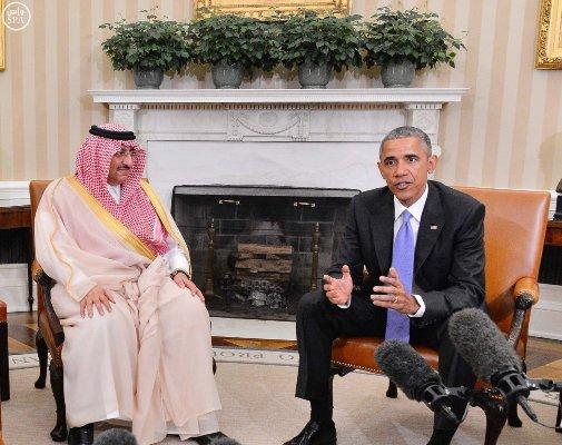 لقاء-ولي-العهد-ومحمد بن سلمان-مع-اوباما (6)