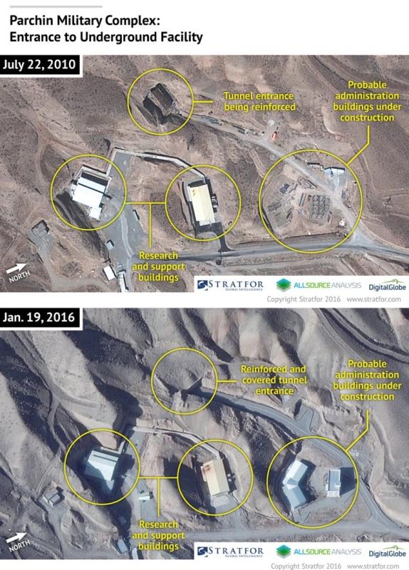 لقطات لعمليات بناء غامضة بمجمع عسكري بايران (1)