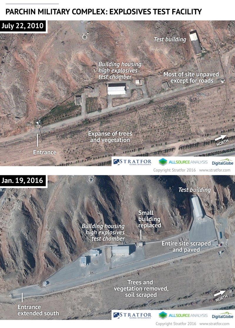 لقطات لعمليات بناء غامضة بمجمع عسكري بايران (2)