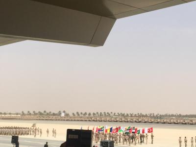 لقطات من العرض العسكري لقوات #رعد_الشمال أمام سلمان الحزم 5