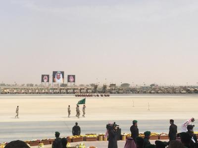 لقطات من العرض العسكري لقوات #رعد_الشمال أمام سلمان الحزم 6