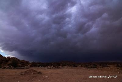 لقطات نادرة لسحب الماماتوس بسماء #الطائف (1) 